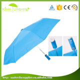 O guarda-chuva de anúncio aberto automático o mais barato do presente de 3 dobras