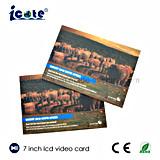 7 Polegadas Card-Brochure Vídeo de alta qualidade com impressão personalizada