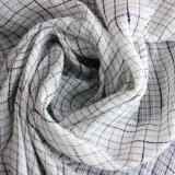 Tencel que Polyetser de lino mezcló controló el hilado de la tela teñido