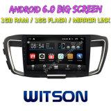 """Witson gran pantalla de 10,2"""" de Android 6.0 alquiler de DVD para las generaciones de Honda Accord con alta y baja 9"""