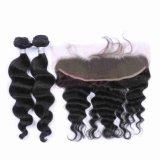 Onda profunda soltas indianas de cabelo humano 100% Remy Hair