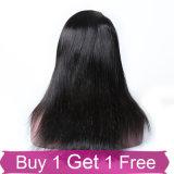 Perruques de lacet de cheveu indien de Vierge d'onde de corps de qualité pleines