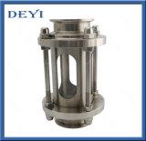AISI304 Cristal de visión cruzada higiénico de acero inoxidable