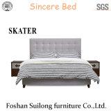 Camera da letto americana Sk01 della base del cuoio della base del tessuto di stile