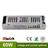 60W 12VD 5A AC/DC Driver de LED para luzes com RoHS da CE
