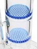 De dubbele Waterpijp van het Glas van de Honingraat Blauwe