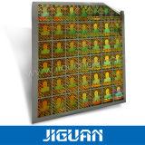 Preiswerter goldener silberner selbstklebender kundenspezifischer gebildeter Aufkleber des Hologramm-3D