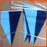 Conception personnalisée de promotion du sport Pennant Triangle Drapeau de Polyester Bunting Mini string pavillon