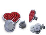 Perni in lega di zinco posteriori del distintivo del magnete