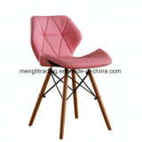 단단한 나무다리 황색을%s 가진 의자를 식사하는 EMS 작풍 연약한 덧대진 시트