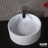 Über Montierungs-Bassin-fester Oberflächenbadezimmer-Eitelkeit