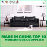Base di sofà di cuoio di svago con la piuma