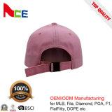 El Béisbol no estructurados de alta calidad 100% algodón poliéster de color rosa gorros de Papá