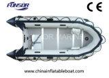 Barco de PVC Funsor Hypalon bote con piso de madera contrachapada (FWS-A320)