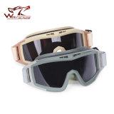 Wolf schuftet Airsoft taktische Wüsten-Heuschrecke-Schutzbrille-Schutzbrille-Gläser