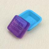 Sy03-04-020 escolhem o molde transparente do sabão do silicone 50g quadrado