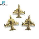 Pin all'ingrosso del Brooch dei velivoli del metallo dell'oro dell'annata 3D della fabbrica