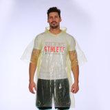 Neuer fördernder Wegwerfregenmantel-faltbarer Poncho Plastik-PET Regenmäntel