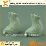 Agitatori di sale di ceramica Handmade e di pepe del foglio