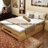 固体木のベッドの現代ダブル・ベッド(M-X2357)