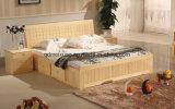 Cama de madera maciza modernas camas dobles (M-X2314)