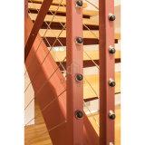 Escalera recta de las escaleras de acero interiores de la escalera de la seguridad