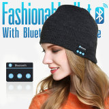 Chapéu do Beanie de Bluetooth e auscultadores sem fio do bluetooth