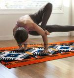 Lavável impresso em cores personalizadas Skid Suede Tapete de Yoga