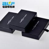 Papel negro pequeño Joyero cartón con asas de cajón