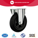 Da placa de borracha plástica do reparo da roda do preto de um núcleo de 6 polegadas rodízios industriais