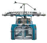 Einzelne Jersey computergesteuerte Jacquardwebstuhl-strickende Hochgeschwindigkeitskreismaschinerie
