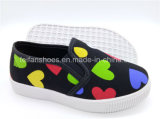 Тапка детей обувает обувь Slip-on ботинок холстины впрыски (ZL1017-15)