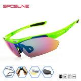 La vente en gros folâtre le base-ball UV400 extérieur de lunettes de soleil de sport de la jeunesse en verre