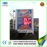 Affichage LED de plein air pour le service de station de gaz (blanc/orange)
