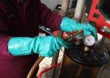 Handschoenen van het Werk van de Veiligheid van het nitril de Chemische Bestand met de Katoenen Voeringen van de Troep