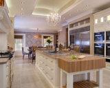 Fabricante do gabinete de cozinha da madeira de carvalho branco do abanador