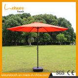 Quadratischer Polyester-oberster römischer Kaffeestube-Sonnenschirm-im Freiengarten-Patio-Regenschirm-Möbel