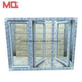 Het nieuwe Vinyl van het Ontwerp van de Grill van het Glas/Openslaand ramen Plastic/PVC/UPVC