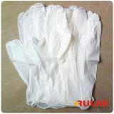 Guanto medico del nitrile di colore bianco a gettare cinese di alta qualità
