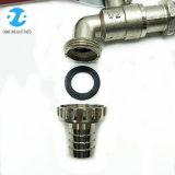 Bibcock Polished da água da liga do zinco para a máquina de lavar