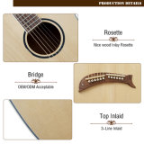 Guitarra de la arpa de la guitarra de Heastock del doble de la guitarra acústica de la marca de fábrica de Aiersi
