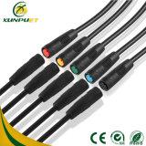 Cable impermeable compartido Pin de la conexión de la bicicleta M8 6