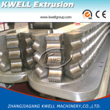 Cadena de producción acanalada de un sólo recinto plástica del tubo del estirador Machine/PE/PVC/PP
