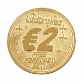 Изготовленный на заказ золотая монетка стороны двойника металла с удачливейшим номером (XD-0706-12)