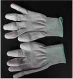 Перчатки ESD с связанным вкладышем волокна углерода