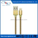 Mfi USB同期信号へのナイロン編みこみの8つのPin電光およびiPhone、iPadおよびiPodのための充満コード(革バンドと)
