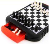 Jogo de xadrez plástico magnético portátil do enigma da criança da xadrez da venda quente