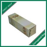 Einzelne Flaschen-gewölbter Wein-Verpackungs-Kasten mit Griff