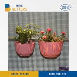 Potenciômetro de flores de plástico Custom Flower Pot levou claro Flower Pot
