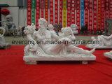 Beeldhouwwerk van het Cijfer van het Standbeeld van de Kunst van mensen het Marmeren voor Verkoop